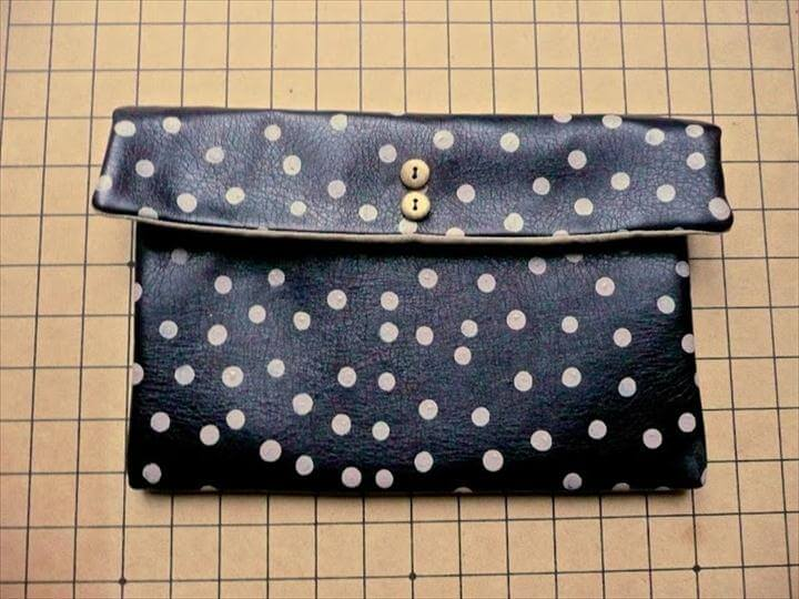 DIY: Anthro inspired polka dot clutch