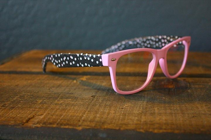 pink polka dor sunglass, finished polka dot glasses