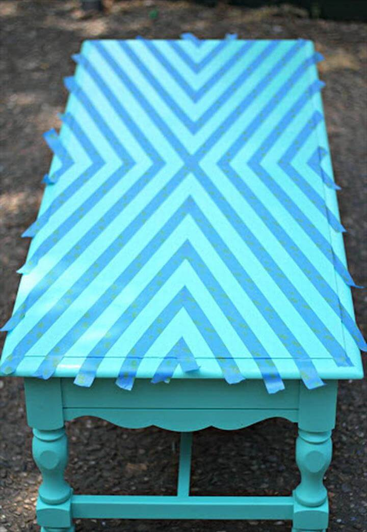 Geometric Coffee Table Makeover,
