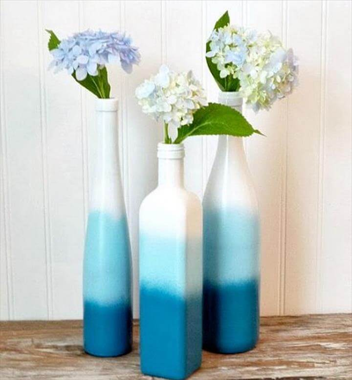 DIY Spray Paint Wine Bottles