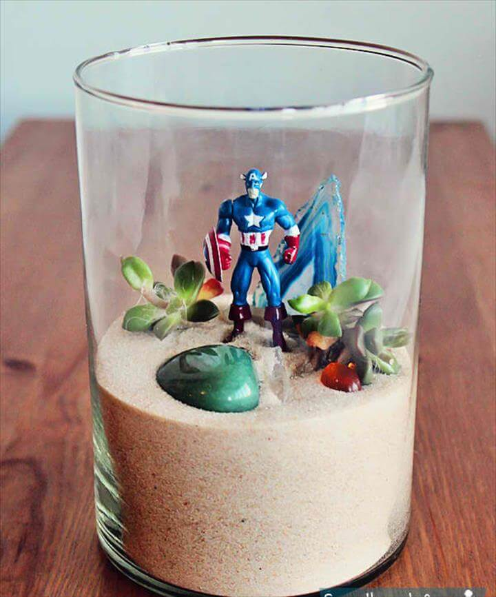 Toddlers will love this Superhero Terrarium DIY Project