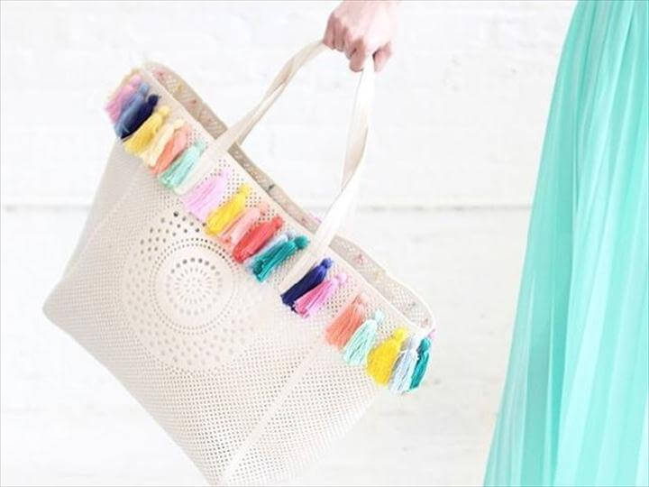 DIY Tassel Beach Bag, DIY Tassel Projects