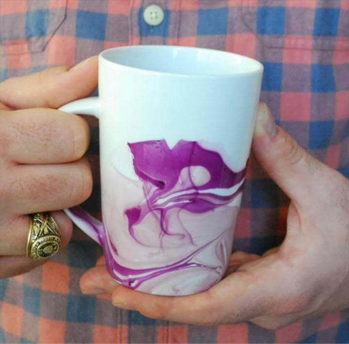 nail polish coffee ug, marble coffee mug, watercolor coffee mug design