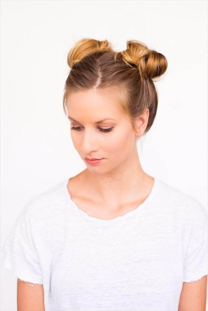 Double Bun Hair Tutorial, Cool Hair Tutorials for Summer - Double Bun Hair Tutorial - Easy Hairstyles and Creative Looks