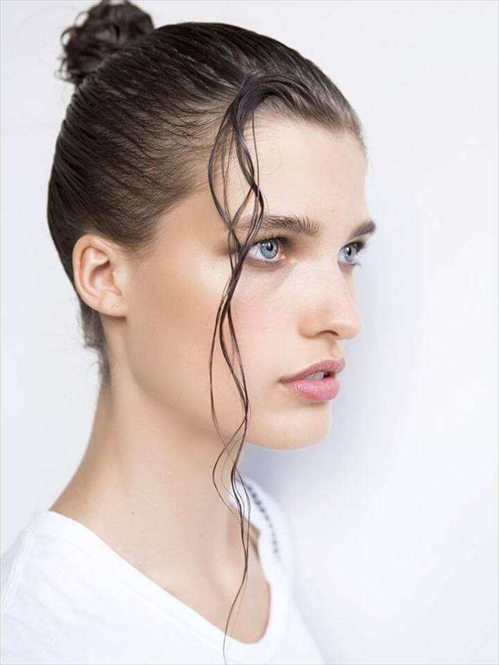 Slicked-Back Hair - No-Heat Hairstyles