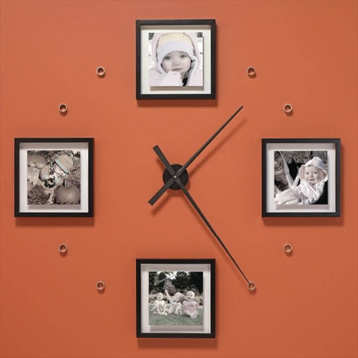 large photo clock