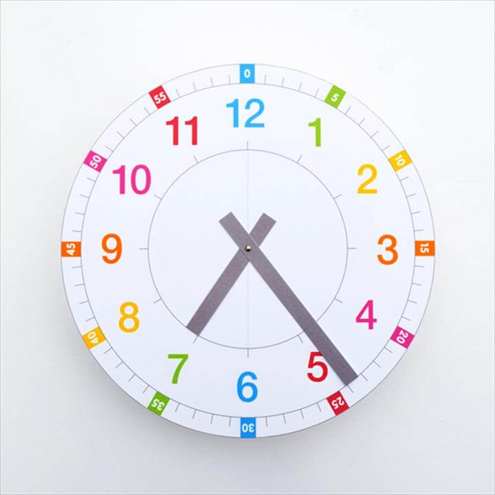 Printable Learning Clock