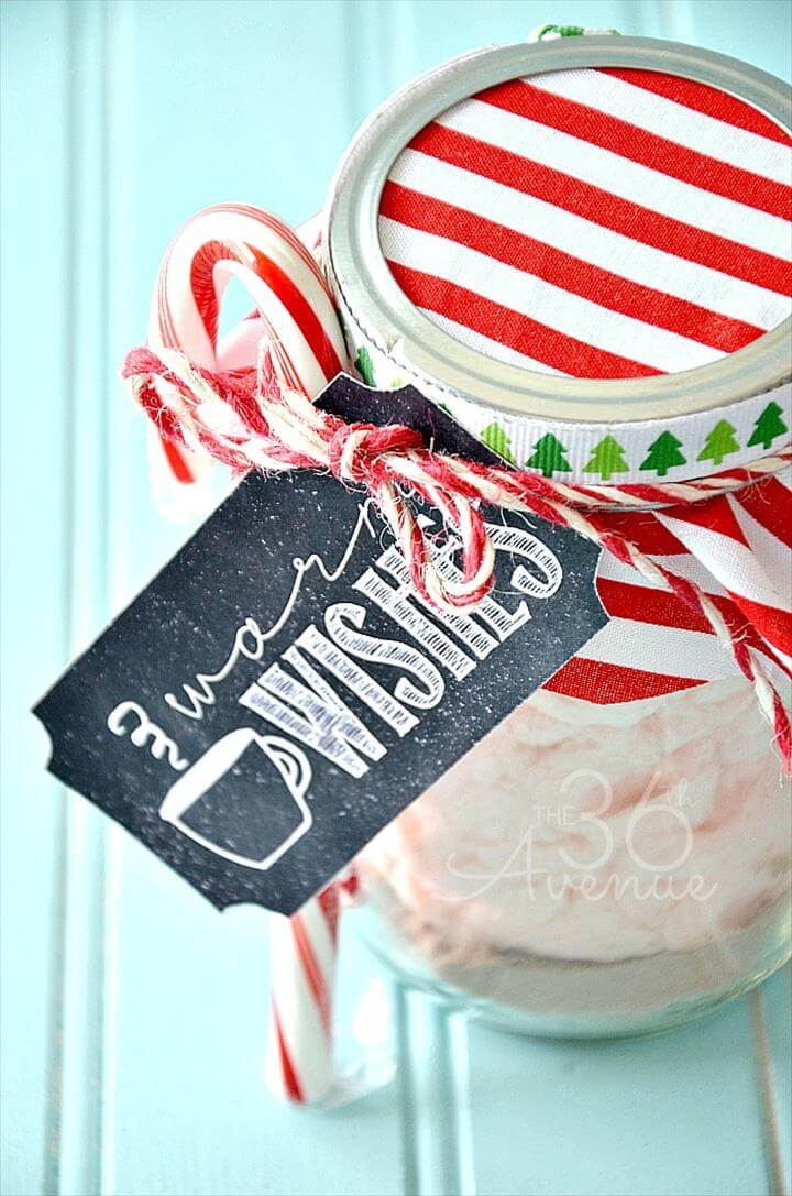Peppermint Hot Chocolate and Free Tag Printables