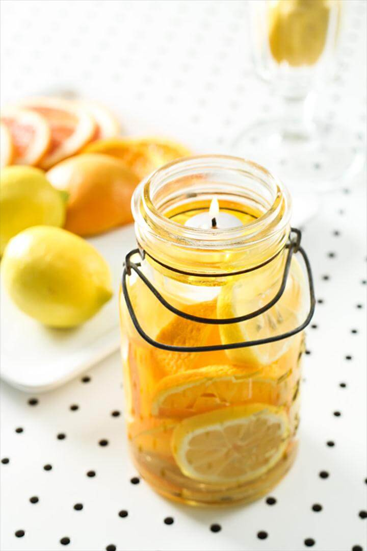 Citrus Mason Jar Candles