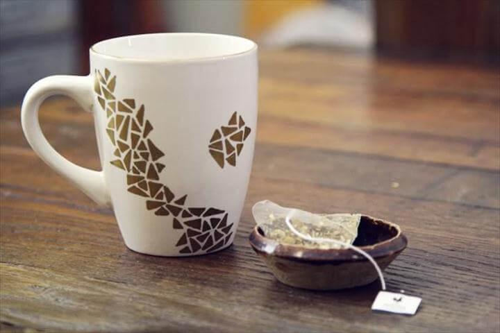Dollar Store Geometric Decorated Mug