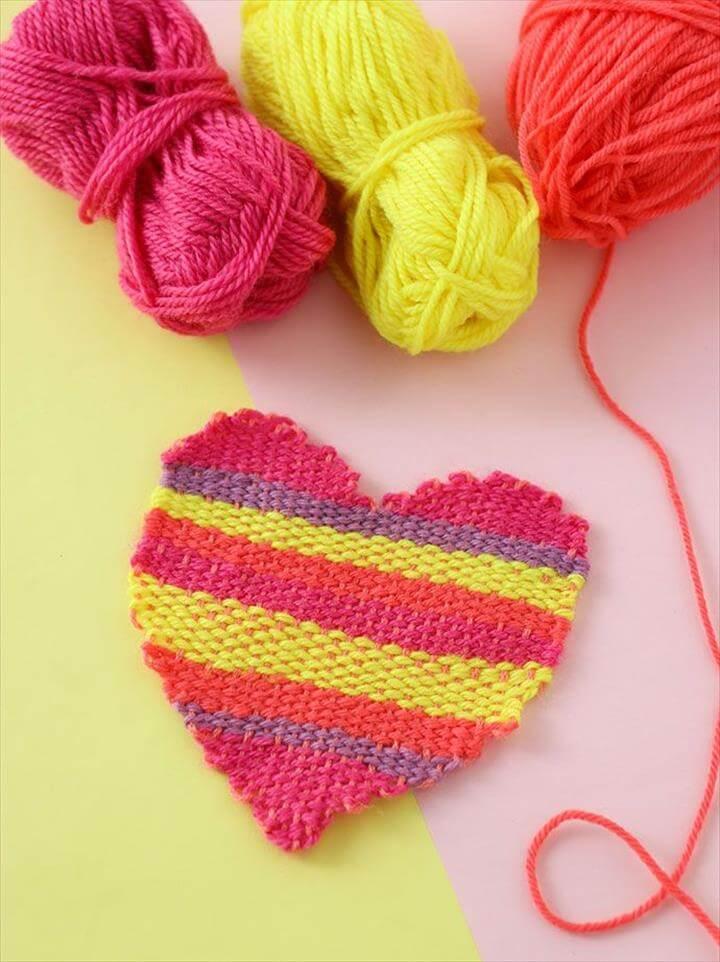DIY Heart Shape Tapestry