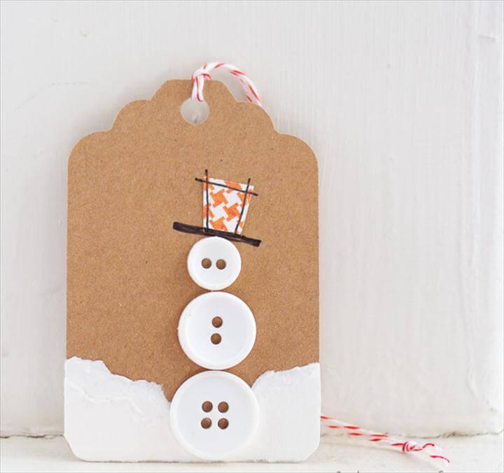 snowman gift tag