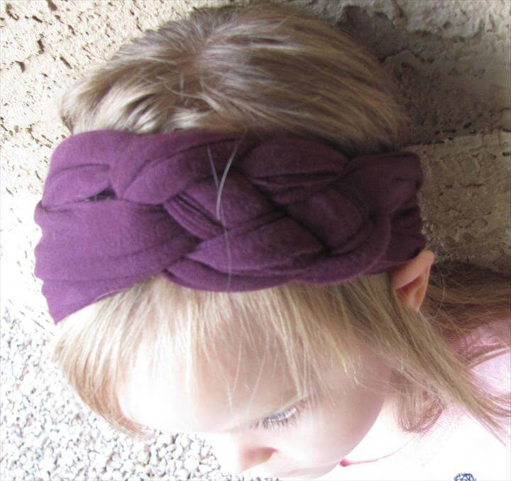 Jersey Knit Braided Headbands