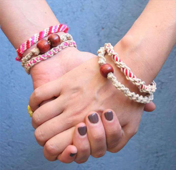 DIY Jewelry Macrame Friendship Bracelets