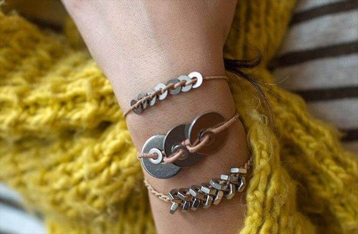 Metal Washer Bracelet