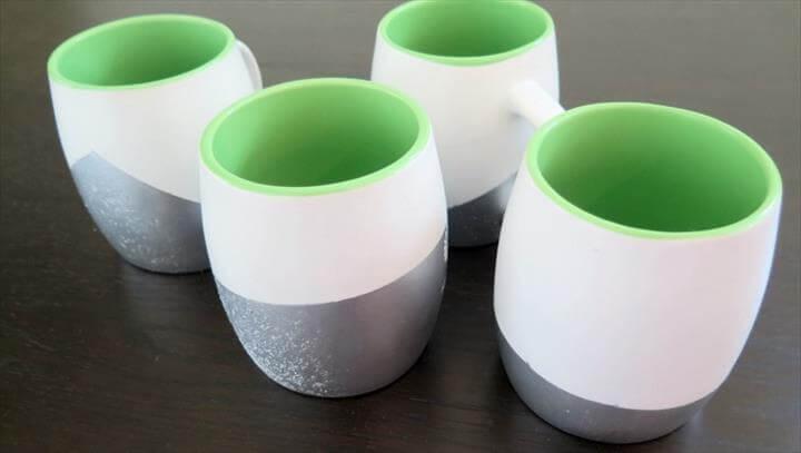 Spray Painted Coffee Mugs
