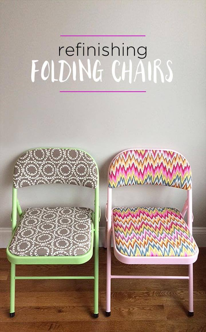 Painted Chairs: Refinish Folding Chairs