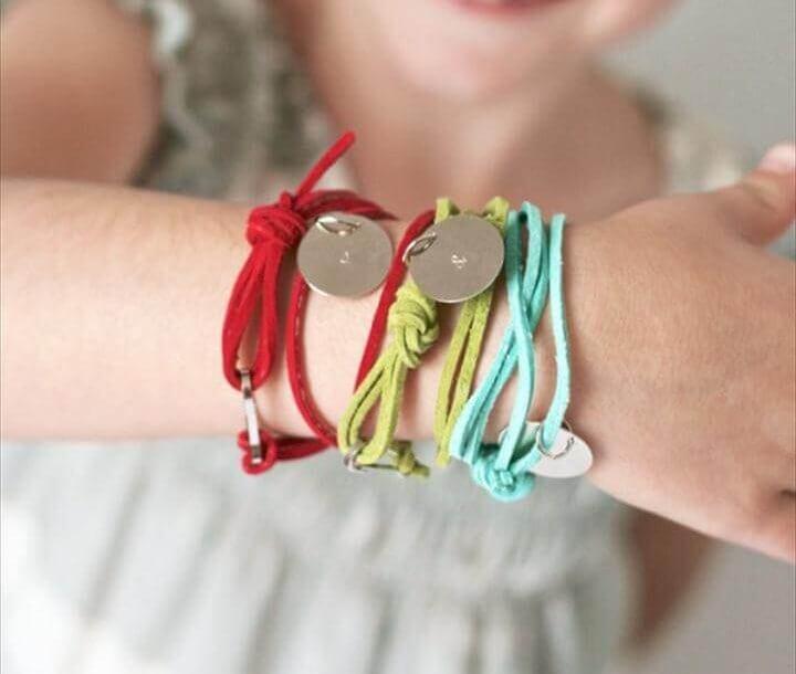 Stamped Friendship Bracelets tutorial