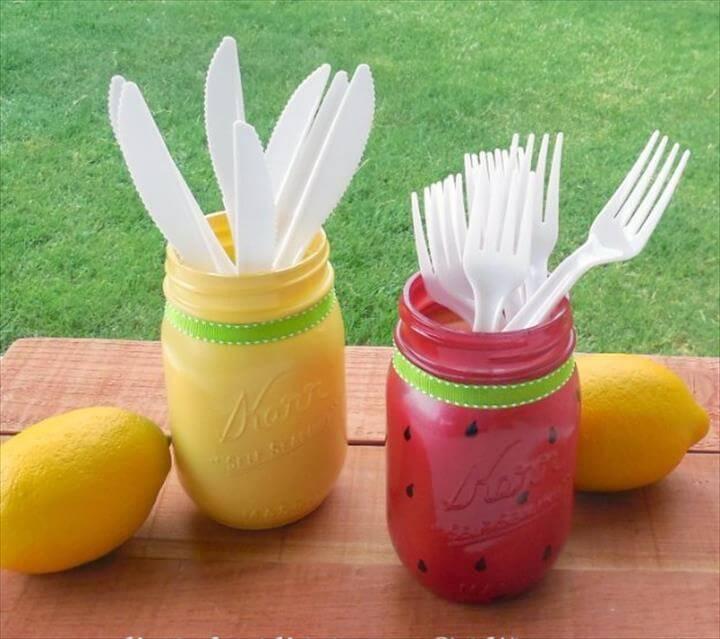 Mason Jar Ideas for Summer - Summer Mason Jar DIY - Mason Jar Crafts, Decor, Summer Mason Jar DIY