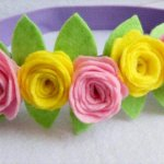 Pretty Felt Flower Headband
