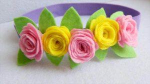 Pretty Felt Flower Headband