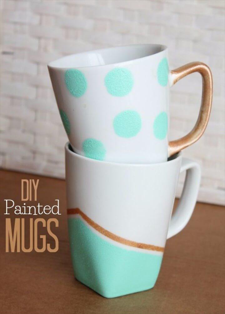 Adorable DIY Painted Coffee Mug
