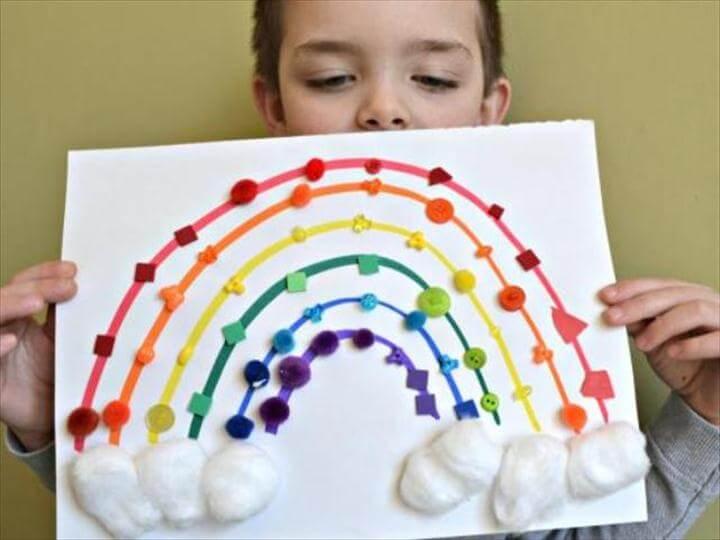 Colorful DIY Sensory Rainbow For Your Kids To Make