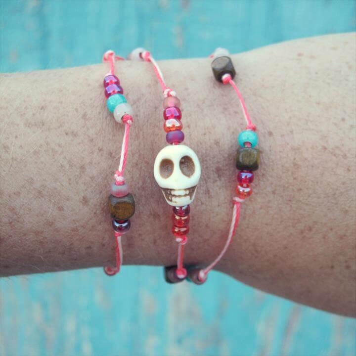 Beaded Skull Wrap Bracelet Tutorial