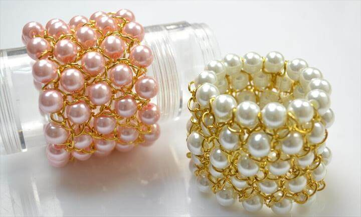 Chain Bracelet with Pearl Beads for Bridesmaids