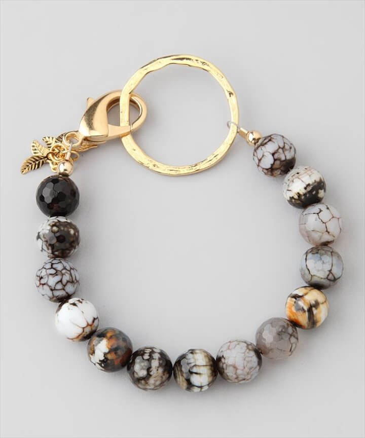 Katie Waltman Designs Speckled Agate Bead Bracelet