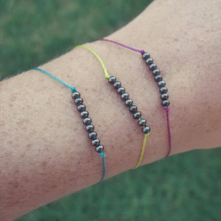 DIY Beaded Friendship Bracelet