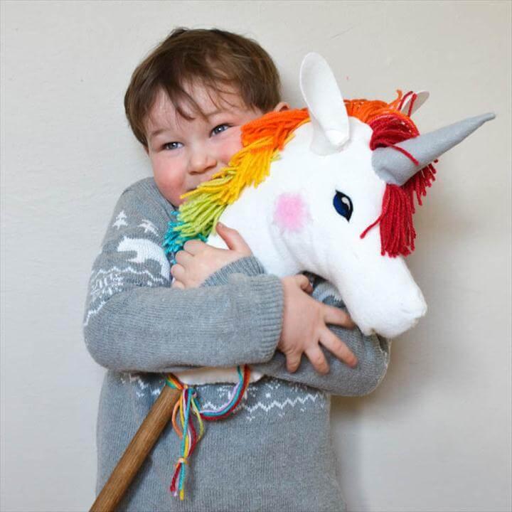 rainbow felt horse