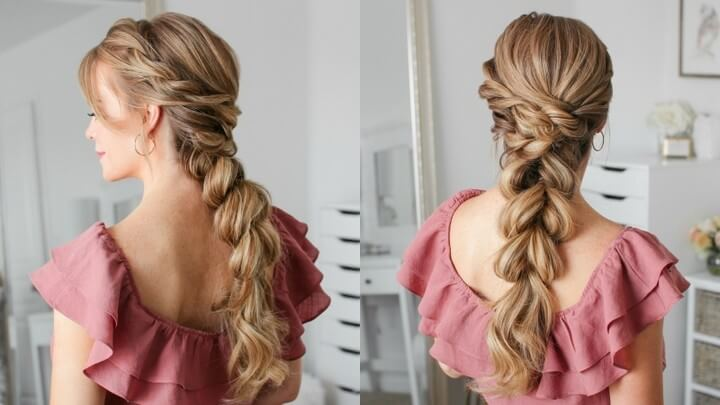 DIY French Pul With Split Braid