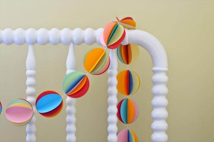 rainbow circle punch garland