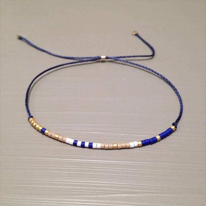Friendship bead bracelet