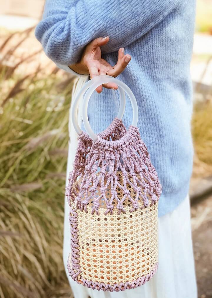 DIY Macrame Bucket Bag