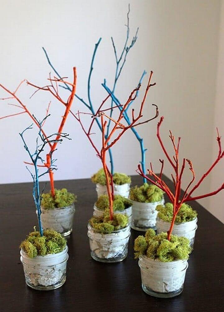 DIY Mini Easter Trees
