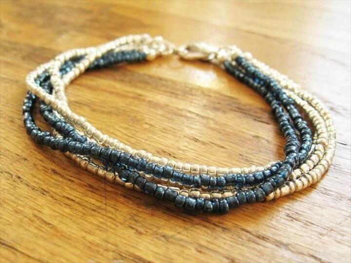 Seed Bead Bracelet, DIY Tutorial: DIY Wrapped Bracelet / DIY Multi Strand Bracelet or Necklace - Bead&Cord
