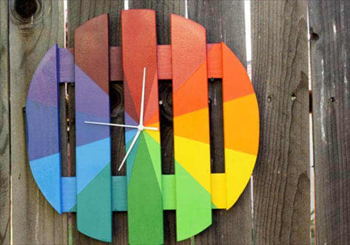 Colorful Outdoor Clock (From a Plant Stand!)