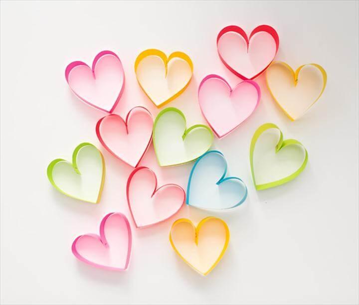 diy colorful hearts