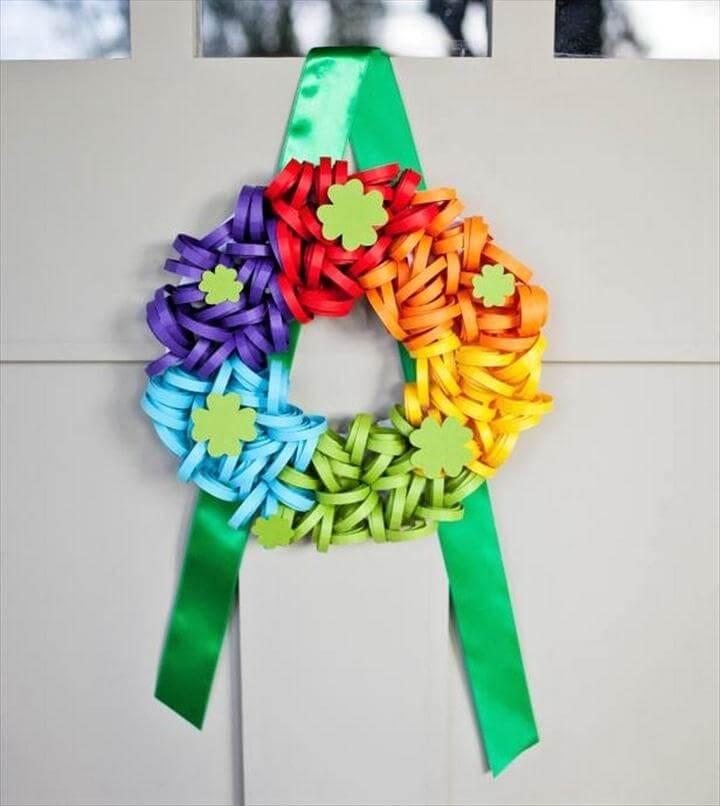Rainbow Paper Wreath