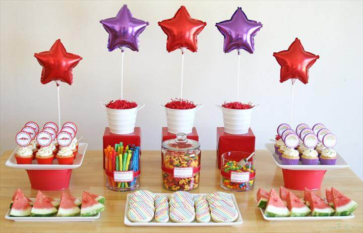 Rainbows and Race Cars Birthday Party