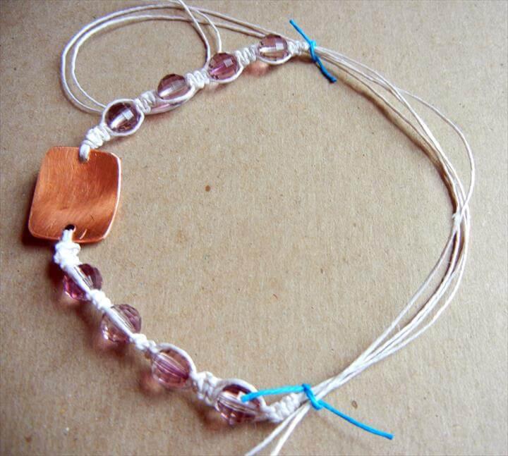 DIY Shamballa style macrame bracelet