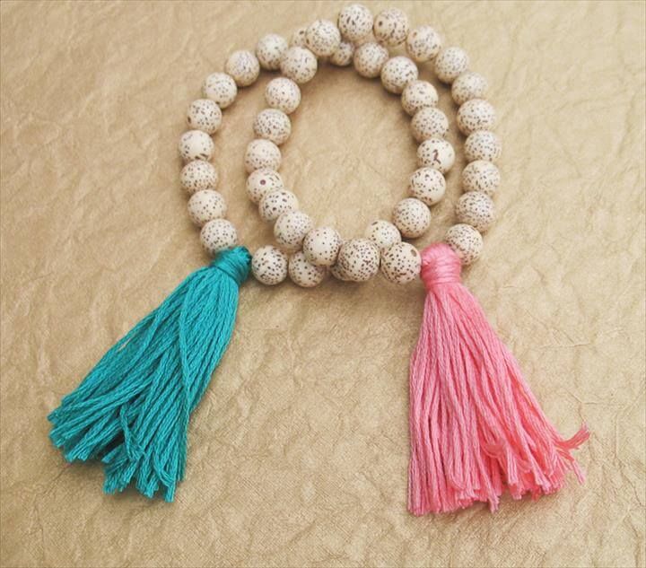 Tassel Beaded Bracelet Tutorial