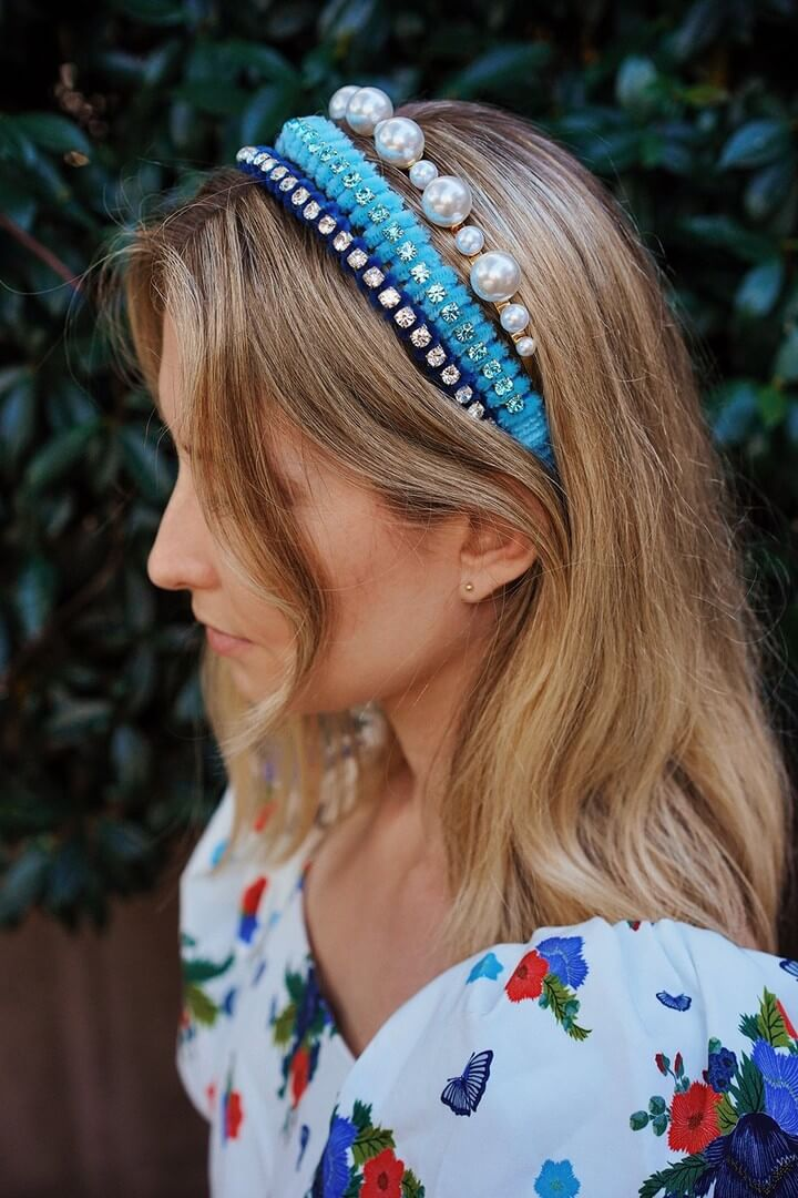 DIY Velour Crystal Headband