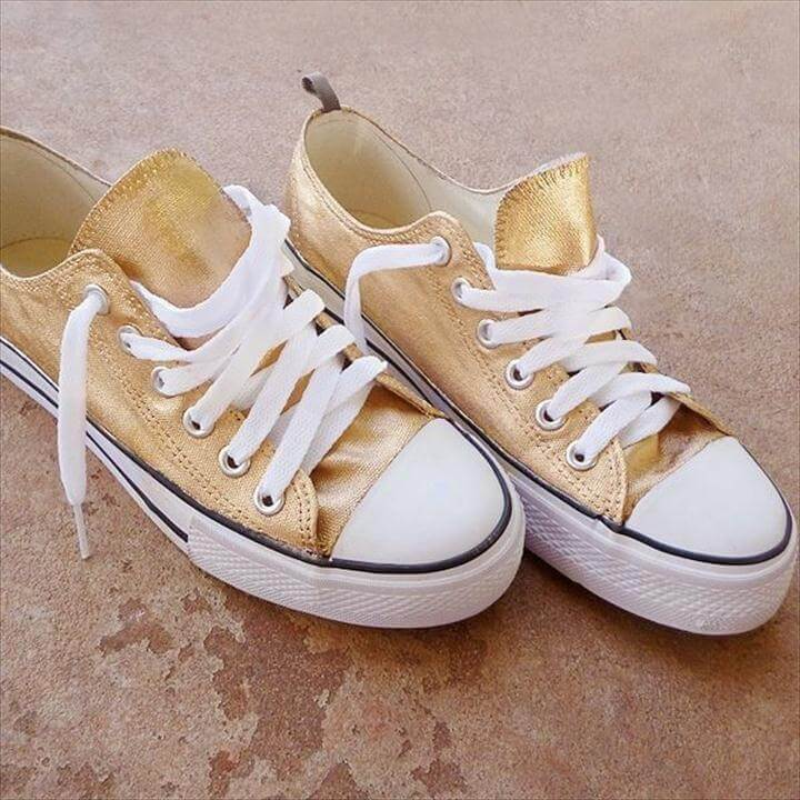 diy gold shoes