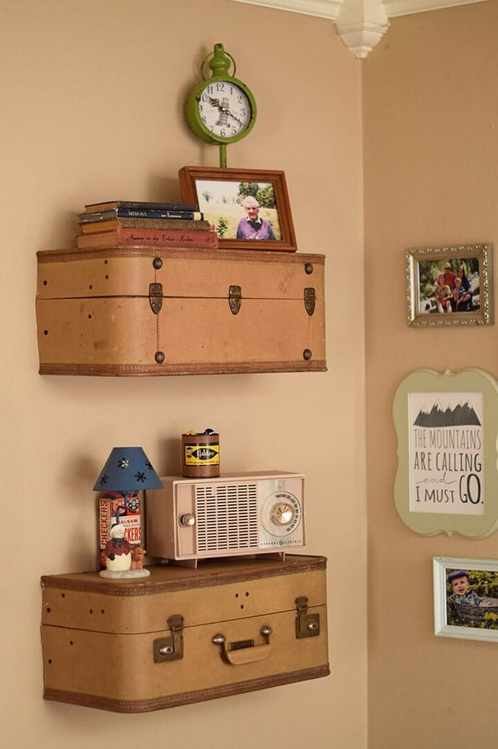 How to Build Suitcase Shelves Easy Step by Step