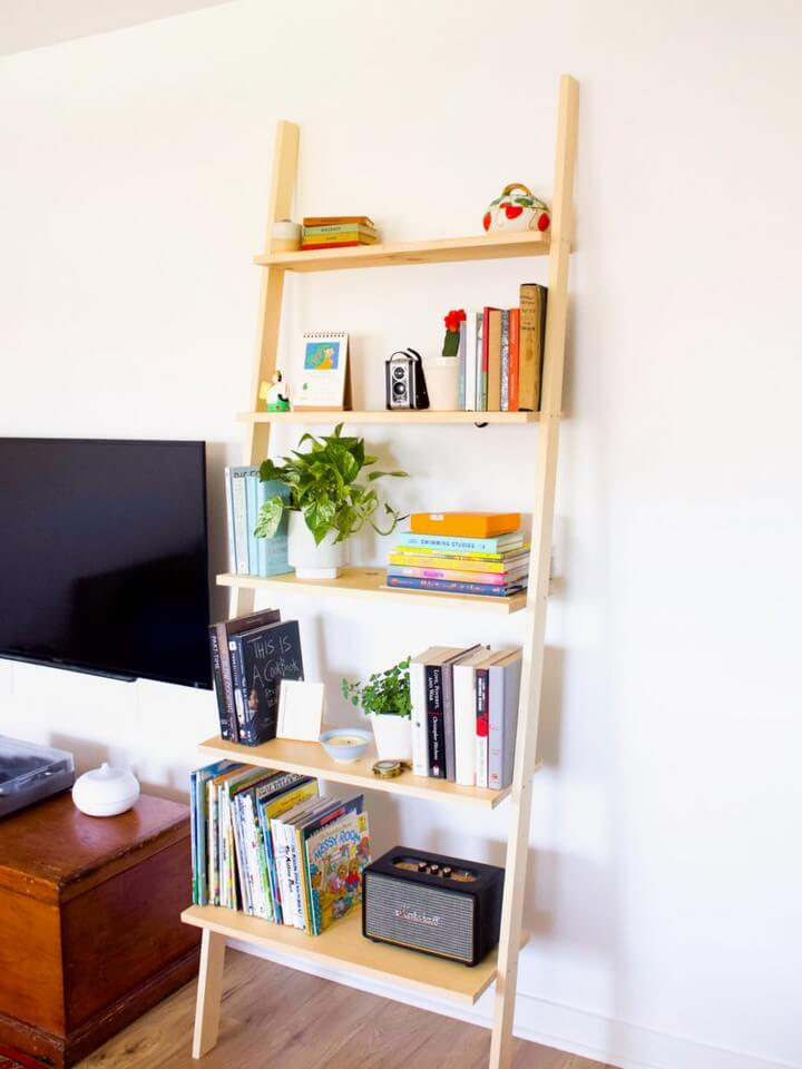 How to Build a DIY Leaning Bookshelf