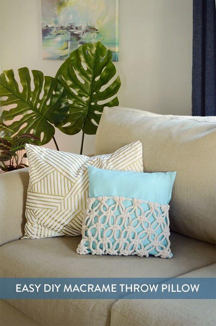 How to DIY Bohemian Macrame Throw Pillow