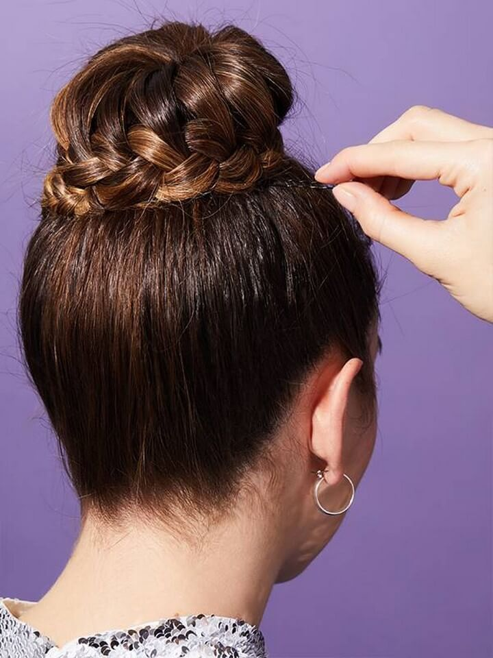How to Do a Braided Ballerina Bun